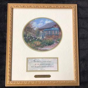 Thomas Kinkade Gardener's Retreat framed art print